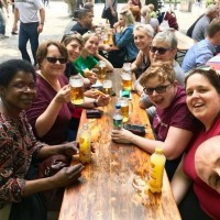 MLGC members enjoying a drink in Munich